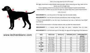 sizing chart elite xback canicross skijoring bikejoring dogtrekking sport dog harness